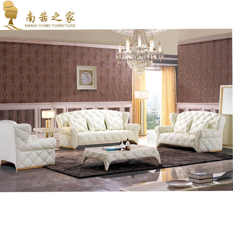 Online get cheap white leather sectional sofa aliexpress for Cheap and good quality furniture