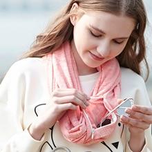 Genovega Brand Autumn Winter Warm Infinity ScarfAll-match Модные женские кольца Шарфы Твердый петля Мягкий карманный шарф для женщин