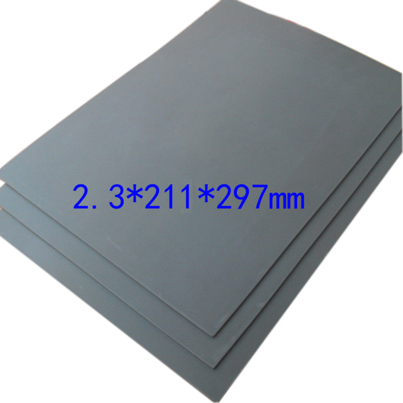 1pc Gray Laser Rubber Sheet Precise Printing Smooth Engraving Cutting Sealer Stamp A4 Size 2.3mm Thickness bbloop email in self inking stamp rectangular laser engraved blue