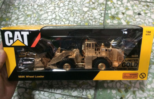 Tonkin Cat Caterpillar 1/50 Scale Diecast Model 988K Wheel Loader Gold Construction vehicles norscot 1 50 siecast model caterpillar cat ap655d asphalt paver 55227 construction vehicles toy