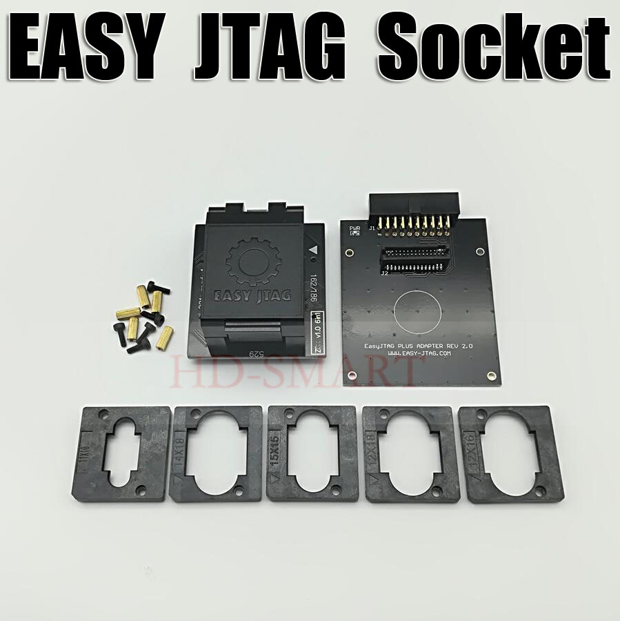 US $65 8 |Original EASY JTAG PLUS BOX EMMC Socket BGA153/169, BGA162/186,  BGA221, BGA529 Free shipping-in Telecom Parts from Cellphones &