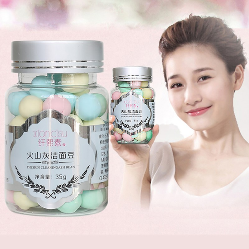 Hot Sales Face Washing Product Amino Acid Deep Cleansing Oil Control Moisturizing Volcanic Magma Beans Skin Care