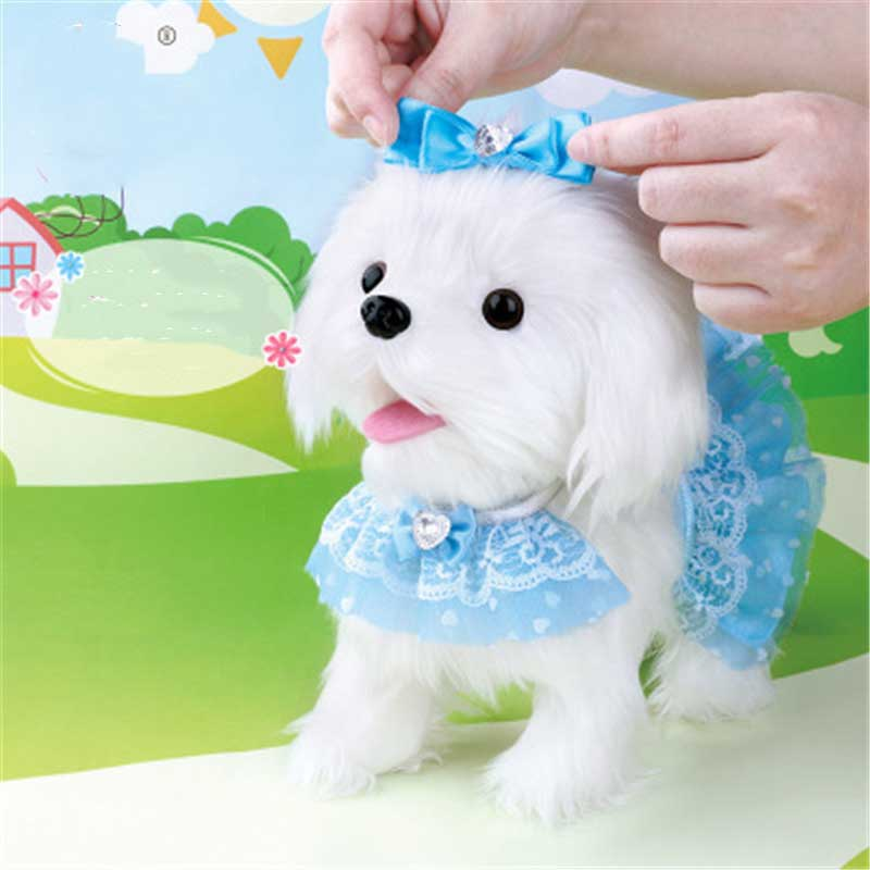 Electrónicos de Control remoto inteligente perro corteza soporte caminar lindo interactivo perro Robot electrónico Teddy cachorro de peluche juguetes de peluche para los niños - 2