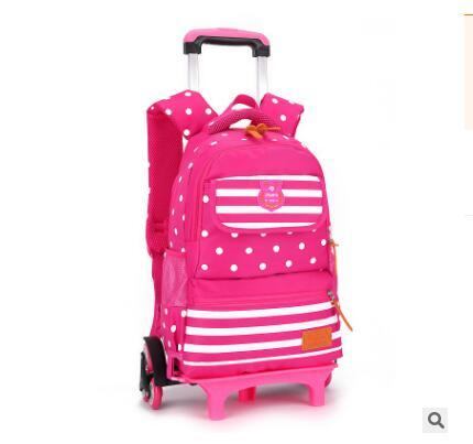 School Backpacks Wheels For Girls Kid's Travel Luggage Rolling Bags School Trolley Bag Backpack On Wheels Girl's Trolley Bag Boy