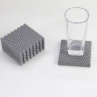 セメント幾何ハニカムコンクリートコースター用品パーソナライズセメント断熱パッドクリエイティブギフトシリコーン