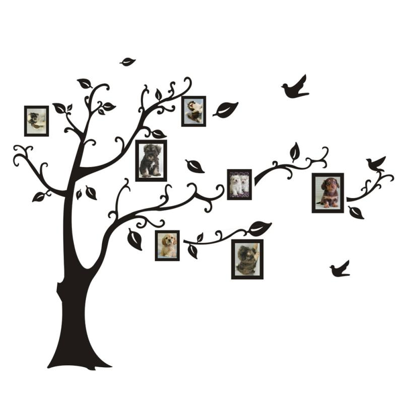 New qualified wall stickers 3d diy photo tree pvc wall for Diy photographic mural