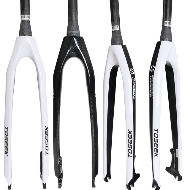 New TOSEEK Full Carbon Fiber Mountain Bicycle Fork MTB Bike Front Fork 28.6mm Cone-Shaped Cycling Fork 26/27.5/29ER west biking aluminum alloy bicycle fork mountain bike front shock road bicycle fork carbon fiber cycling bike parts frame fork