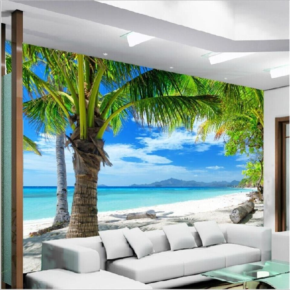 Photo Wallpaper Custom Size Living Room 3d Mural Sandy