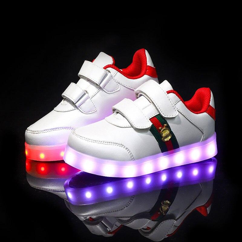 Ładowarka USB świecące trampki Lekkie dziecięce buty dla - Obuwie dziecięce - Zdjęcie 2
