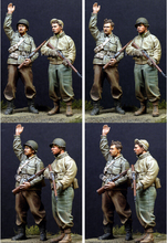 resin assembly Kits 1 35 US WW2 USA Infantry include 2 soldiers Unpainted Kit Resin Model