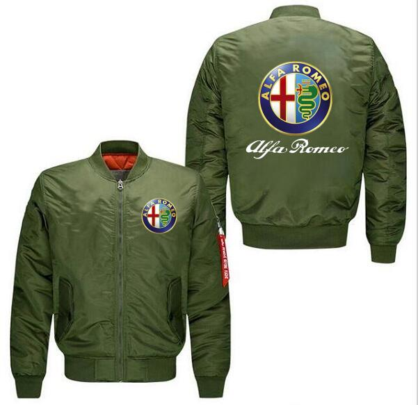 2018 Autumn And Winter New Alfa Romeo Aviator Jacket Cotton Clothes
