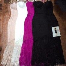 Женское летнее платье из вискозы бежевого, черного, белого и фиолетового цветов, кружевное платье без рукавов на бретельках с v-образным вырезом, вечерние платья знаменитостей, облегающее платье