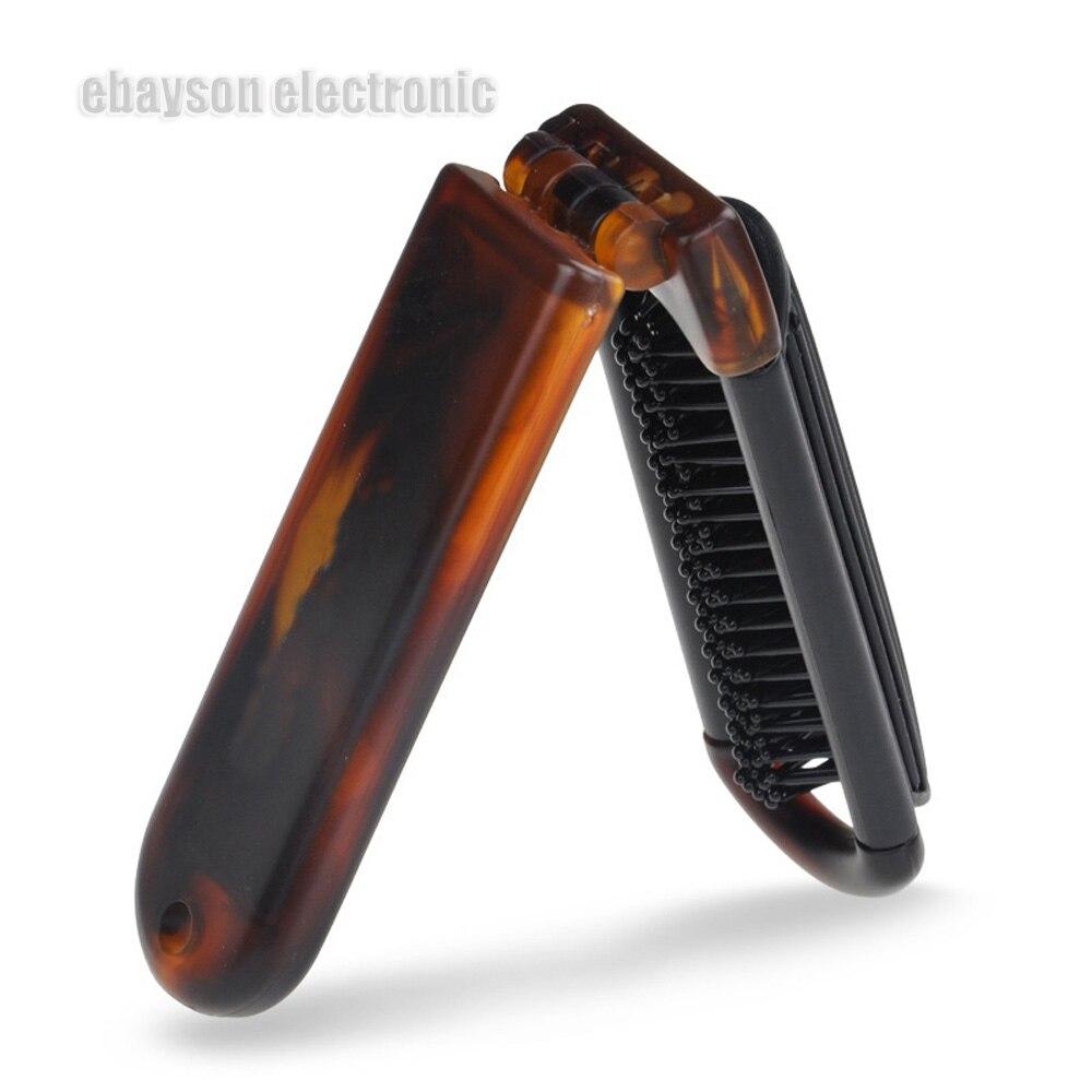 Купить с кэшбэком High Quality Folding Fine Pocket Comb Hair Brush With Mirror Travel Styling Tools