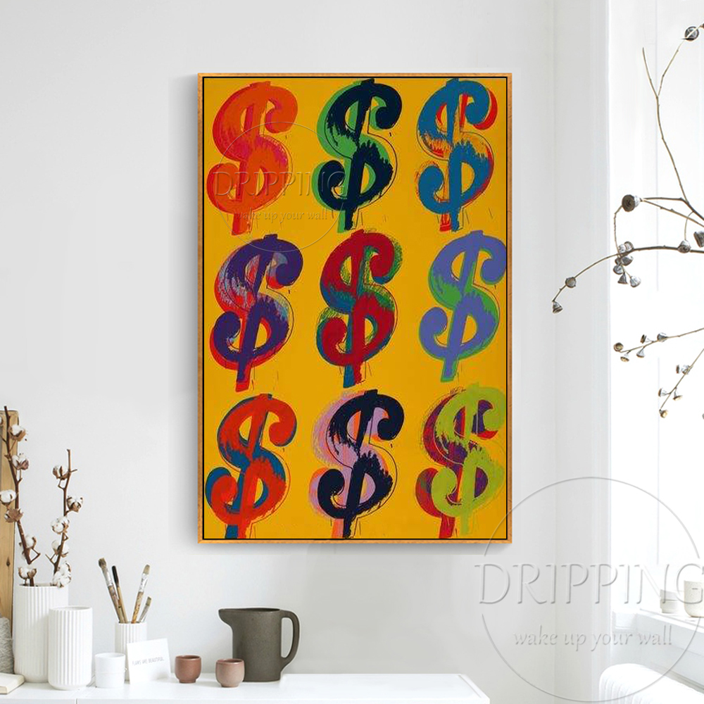 Artist Pure Hand painted High Quality US Dollar Oil Painting on ...