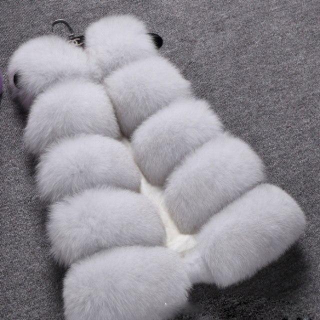 Новинка 2015 мода зима женщины меховой жилет из искусственного меха лисы жилеты девушку искусственный мех пальто женский дамы шубы размер S-XXXL