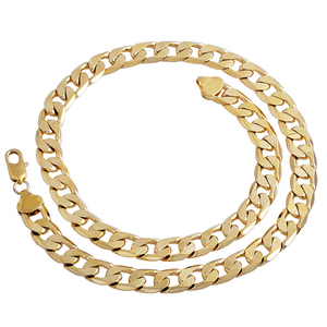 Gold Color Twisted Singapore Chain 24inch 7mm Gold ...