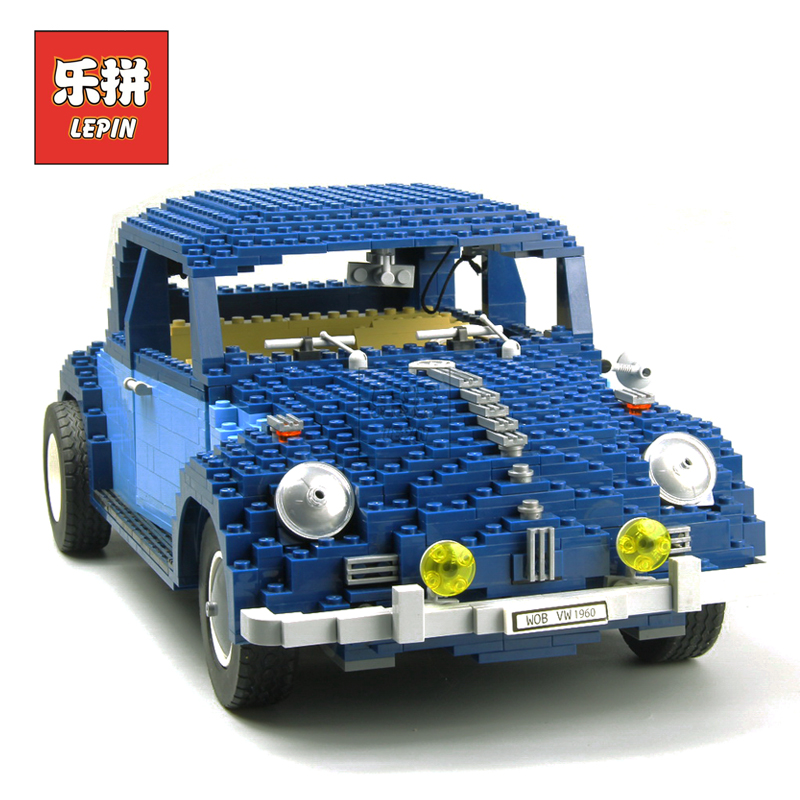 LEPIN 21014 1707Pcs Technic Classic Beetle car Model Building Blocks Bricks Holiday Toys for Children Gifts LegoINGlys 10187 1707pcs new lepin 21014 classic beetle model car building kits blocks bricks for children christmas gifts legoinglys 10187