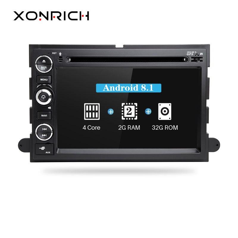Xonrich 2 Din Android 8.1 Lecteur DVD de Voiture Pour Ford F150 F350 F450 F550 F250 2004-2008Fusion Expédition Mustang Explorer EdgeRadio