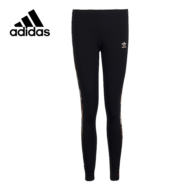 Adidas Original New Arrival Official Women's Tight Elastic Waist Full Length Black Pants Sportswear BR5133 original new arrival official adidas women s tight elastic training black pants sportswear