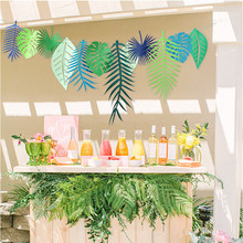3M Tropical Flamingo Leaves Banner Flower Garland Paper Flag Bunting Birthday Baby Shower Hawaiian Summer Party Decor