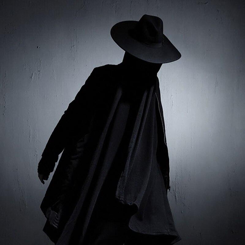 Goths longue-manches tranchée personnalité masculine nouveauté punk manteau noir élégant survêtement