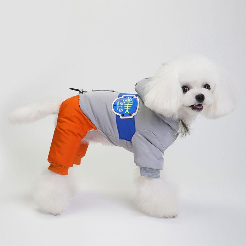 Imperméable réversible chien veste Designer chaud hiver chien manteaux Pet vêtements élastique chien vêtements hiver roupas para cachorros