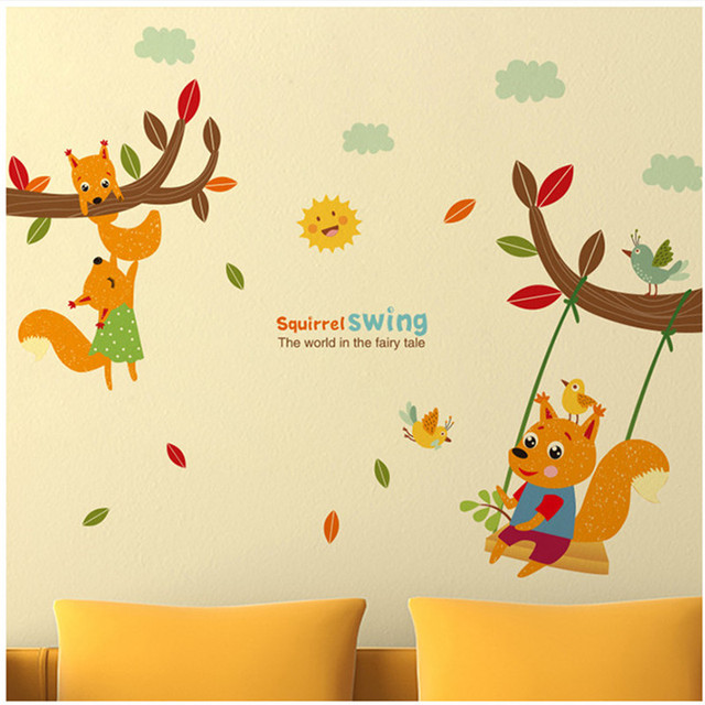 Kid\'s room kindergarten wall stickers wardrobe stickers bedroom wall ...
