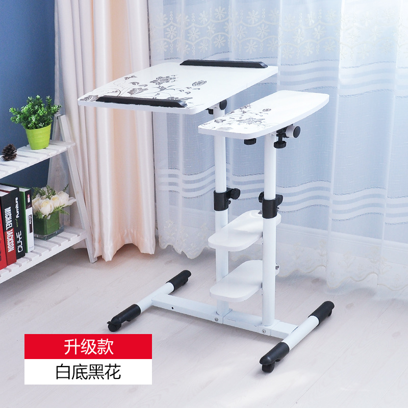 Купить с кэшбэком Wooden Adjustable height computer desk Laptop table folding table computer desk Bedside desk Mobile table Office furniture