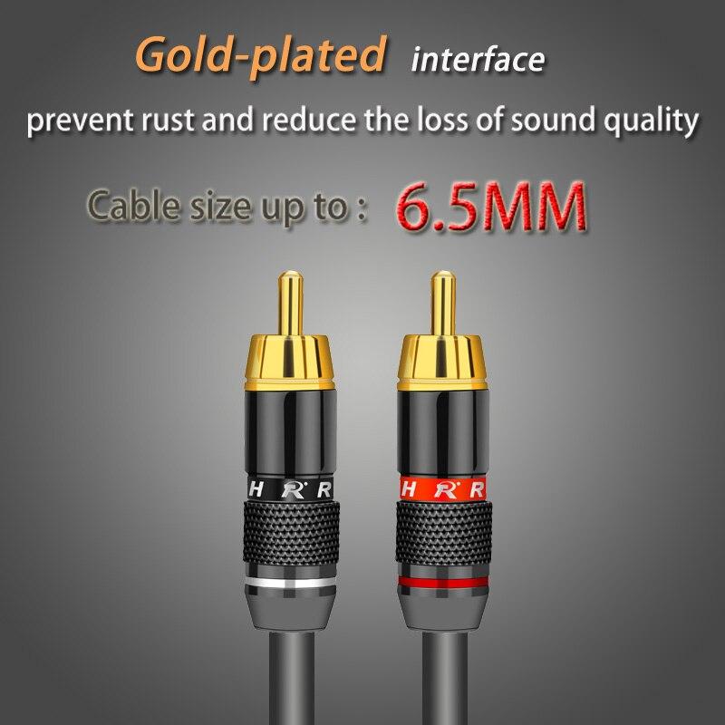 2 шт./1 пара позолоченный RCA разъем RCA штекер адаптер видео/аудио провод разъем Поддержка 6 мм кабель черный и красный супер быстрый