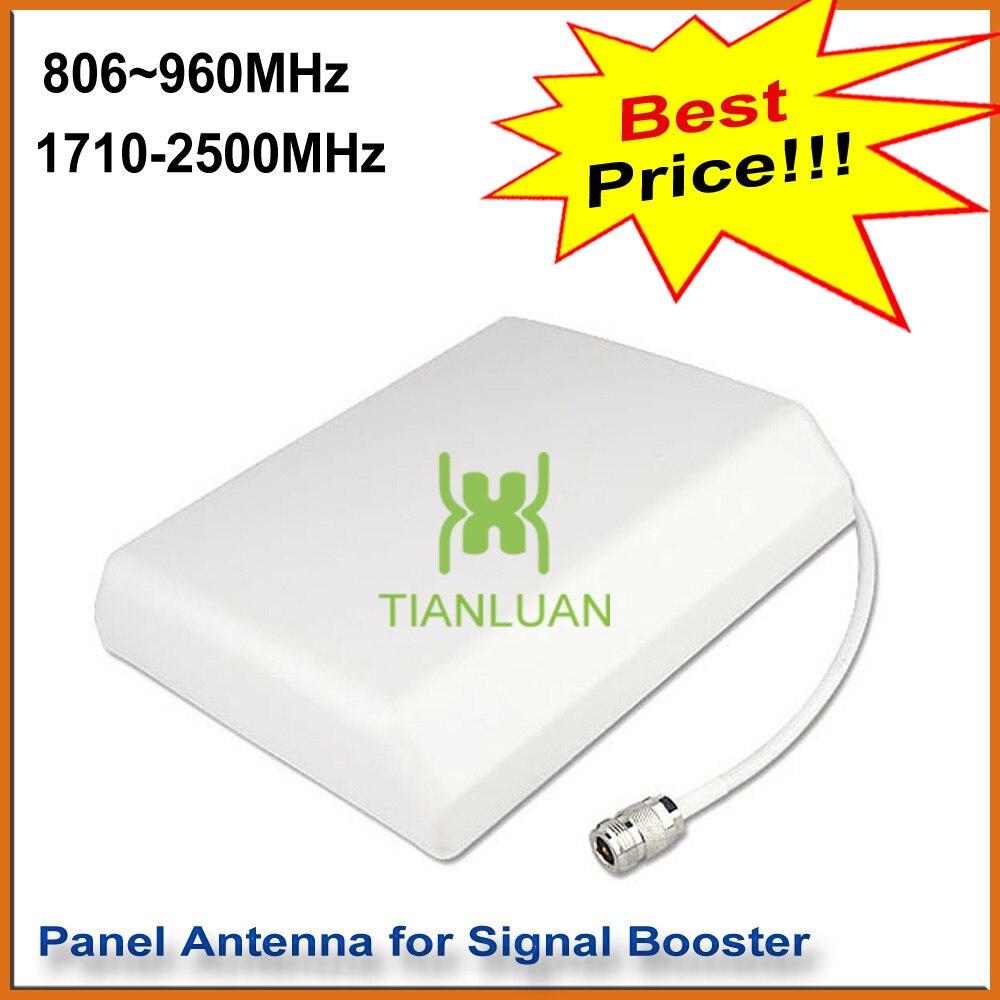 Parete interna Antenna Pannello Esterno Appeso Planar Antenna per 2G 3G GSM CDMA DCS PCS W-CDMA Cell Phone Signal Booster bianco