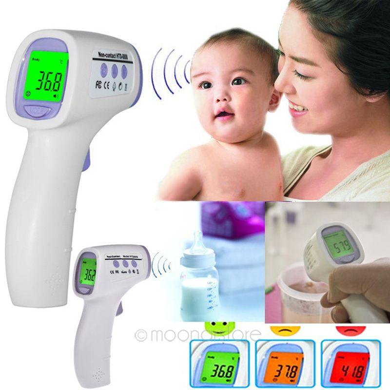 Бесконтактных Тесты цифровой инфракрасный термометр для детей и взрослых температуры тела Видеоняни и радионяни уход