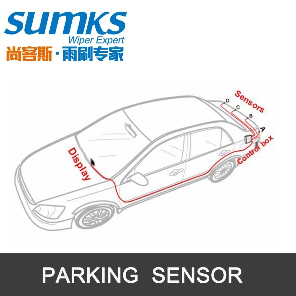 Summerparkeringshjälp med 4 sensorer och LED-display Omvänd - Bilelektronik - Foto 6