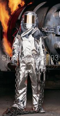 1000'C + 1832' ropa de lucha contra incendios, trajes de protección contra la radiación térmica, ropa a prueba de fuego, de alta temperatura de protección conjuntos