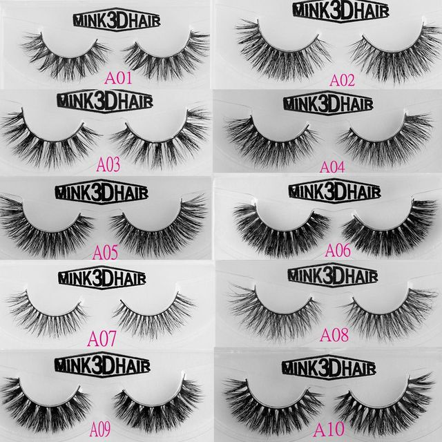 1d6811abe95 1Pair Handmade Classic 3D Mink False Eyelashes Thick Long Cross Eye Lashes  Black Makeup Extension Tools