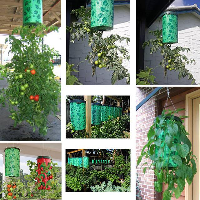 Upside Down Tomato Planter Home Yard Garden Vertical Hanging Pot