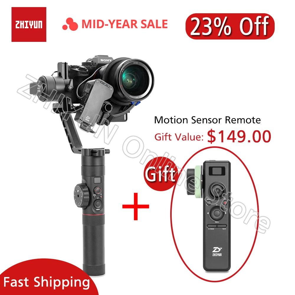 ZHIYUN Guindaste 2 Cardan Câmera com Servo Follow focus 3.2Kg de Carga Útil para DSLR Camera Mirrorless SONY Canon Panasonic Estabilizador