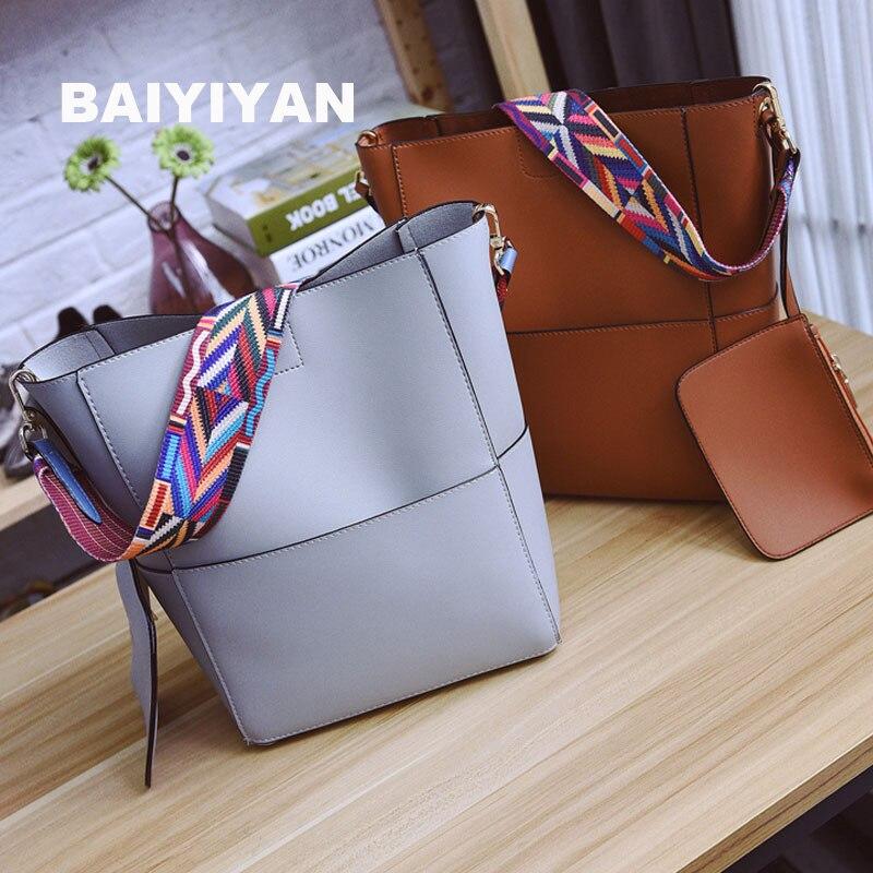 2017 New Korean Version Of The National Wind Shoulder Bag Shoulder Bag Large Capacity Wild Bucket