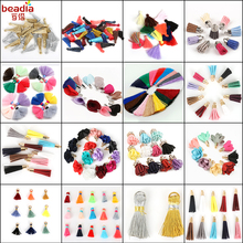 10-50pcs mixed Types Tassel Findings Flower,Metal,Silk,Polyester Charms Pendant for Drop Earring Tassel Jewelry Supplies Making
