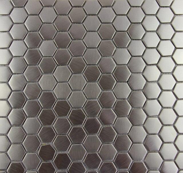 Neue Mode Stil Hexagon Metallic Mosaik Fliesen Edelstahl Decor - Mosaik fliesen metallic