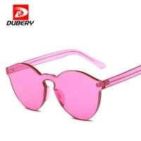 DUBERY Luxury Fashion Rhinestone Cat Eye Sunglasses Women Designer Transparent Frame Ladies Reflective Sunglasses Gafas De