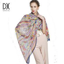 d9df082e7a55 2018 Silk Long Scarf Luxury Brand Women New Design Beach Blanket Shawl Wear  Swimwear Bandana Hijab Face Shield Foulard 245 110cm