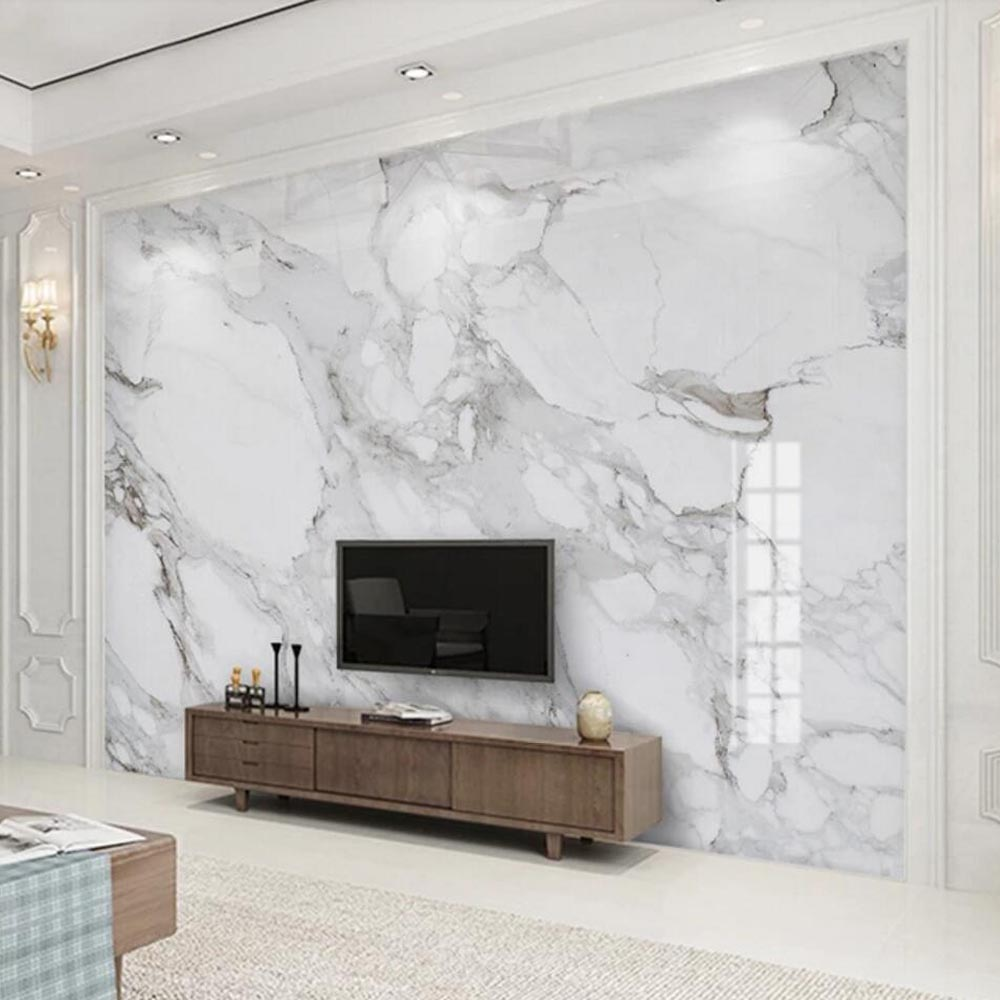 3D Marble Contact Paper Photo Wallpaper Mural for Living Room TV ...