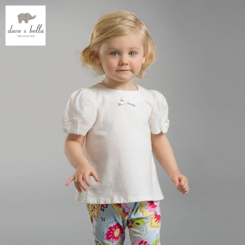 DB2565 dave bella summer baby girls tees girls cotton tops infant clothes kids t shirts toddle outerwear girls cute tops