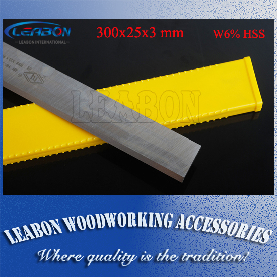 LEABON HSS W6% Wood Planer Blades 300x25x3mm Woodworking Power Tools Accessories for Thickness Planer   (A01006014) 1