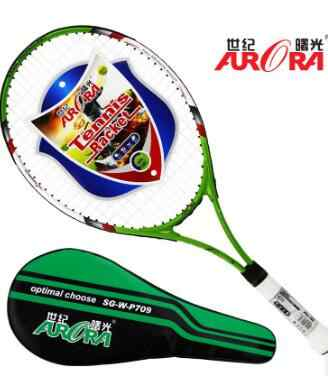World Pa Long tennis racket male and female adult general aluminum student training tennis racket single tennis