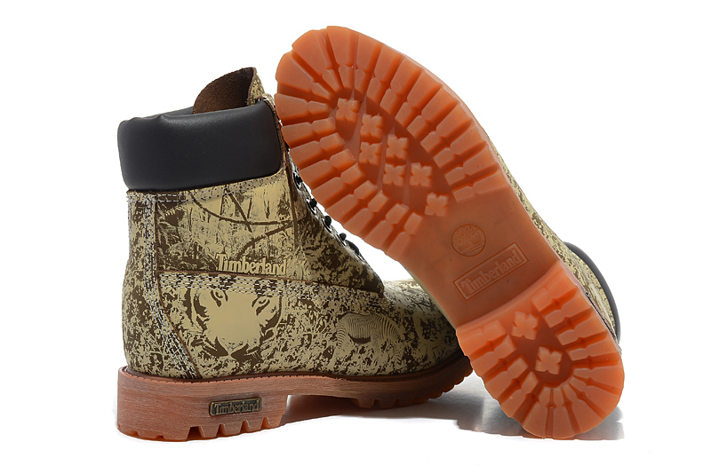 Original Super TIMBERLAND Animal Prints Men Premium Ankle Martin Boots,Man Genuine Leather Timber Outdoor Casual Shoes 10083 4