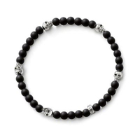 TMS High Quality Ts Skull Beads And Black Bead Bracelet Rebel At Heart Collection Wholesale Super