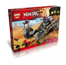 2016 Nuevo 06032 4 LEPIN 443 Unids Ninja Rock Road Kits de Edificio Modelo Bloque  Ladrillos DIY Juguetes Regalo