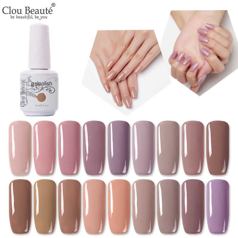 Clou Beaute Telanjang Seri 15 Ml Gel Polish Nail Primer UV Semi Permanen Varnish SOAK Off Nail Gel Base Top coat Gel Cat Kuku
