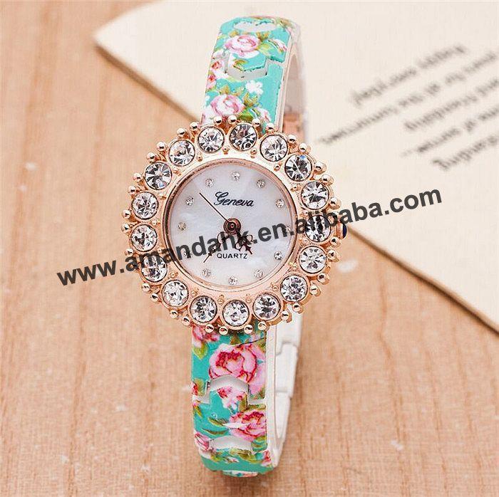 Quartz Women Wristwatch Flower-Geneva Silicone Hot-Sale Kids Fashion Top Students